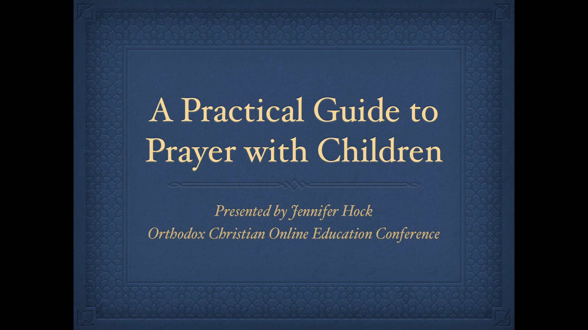 A Practical Guide to Prayer with Children